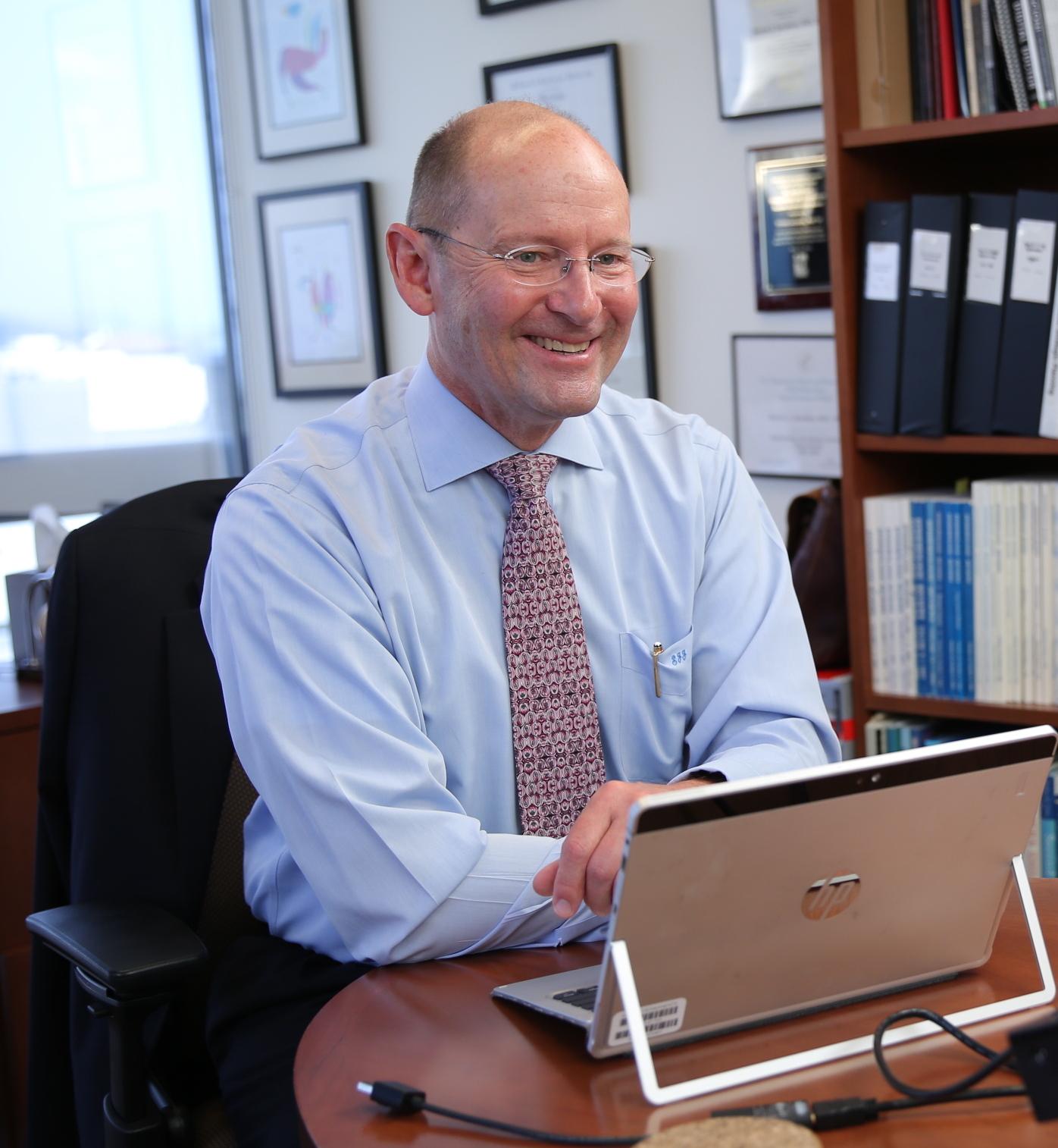 Dr. Steven Jacobsen in his office