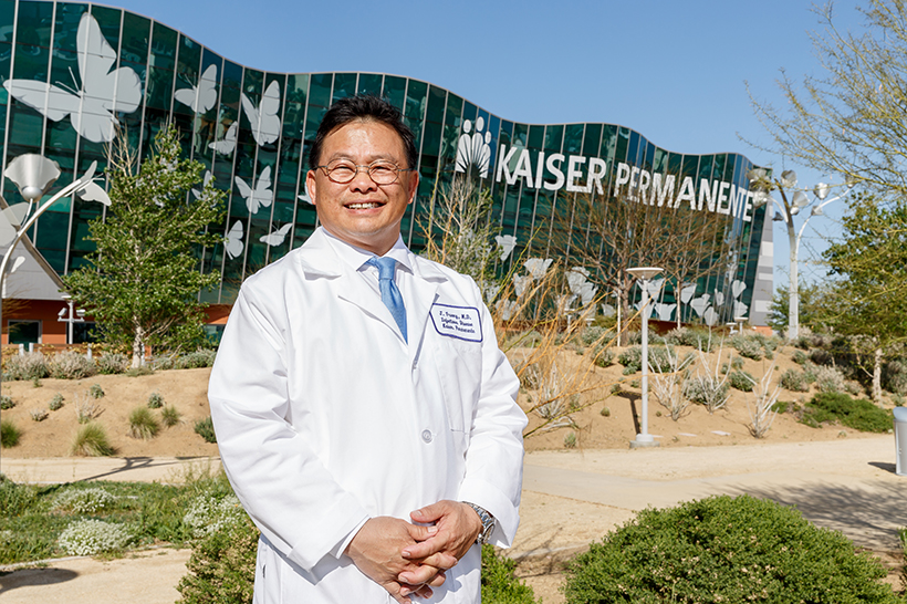 Kaiser Permanente Dr. Johathan Truong in Antelope Valley works on valley fever clinical trials.
