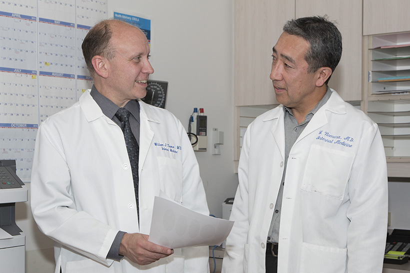 Dr. William Towner and Dr. Jim Nomura